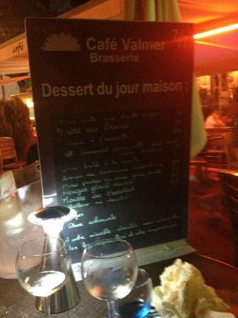 Cafe valmer : presentazione del MENU