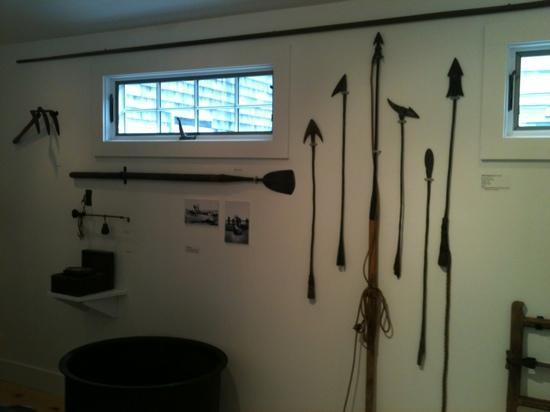 Wellfleet Historical Society Museum : great antique fishing gear