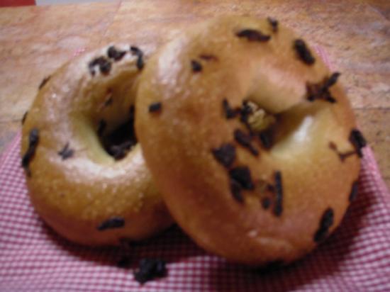 Vallarta Bagel World: Onion Bagels