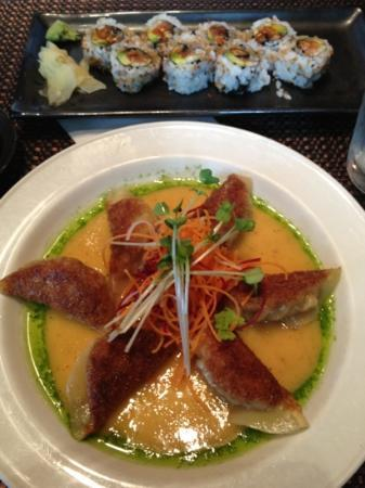 Raku-An Asian Dining & Sushi: awesome dumplings!!! the sauce is amazing!