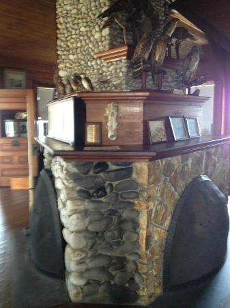 Eagle Island State Park: The coolest fieldstone fireplace...
