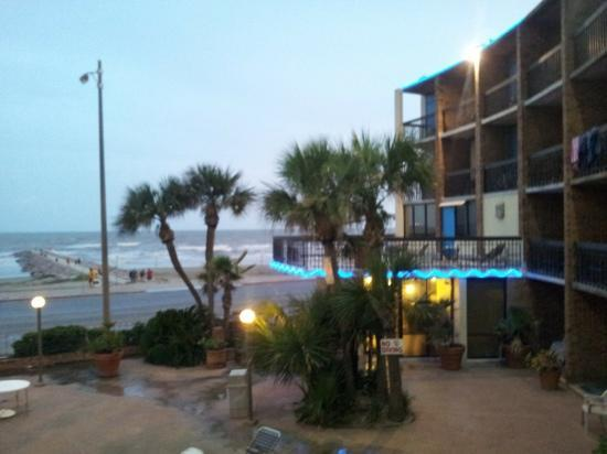 Commodore on the Beach: view from our room at dusk