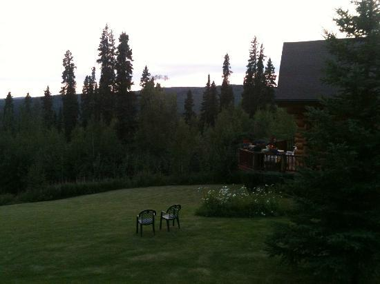 A Moose in the Garden Bed & Breakfast: Looking west