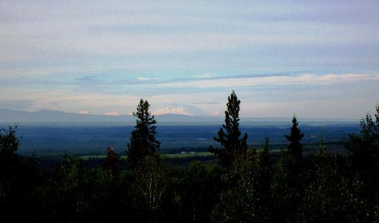 A Moose in the Garden: Mt. McKinley from back deck (expanded a bit)