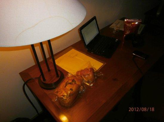 دو ريفير هوتل: the room lighting is very bad, you can't work in here 