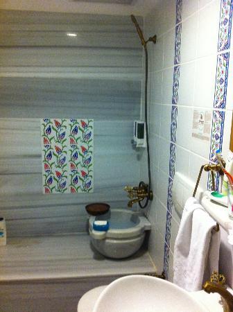 Yusuf Pasa Konagi Hotel: Puzzling shower