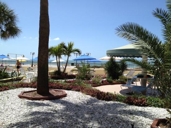 """Shoreline Island Resort: utsikten från vår """"King Garden view"""""""