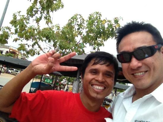 Kakada's Tuk-Tuk : Kakada and me - that ever present smile