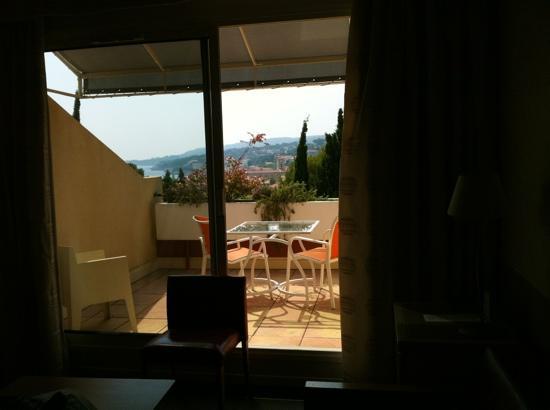 Hotel Royal Cottage: vue de la fenêtre