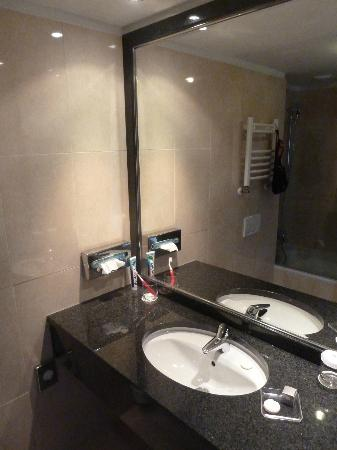 Ramada Hotel and Suites Bucharest North: Small bathroom (standard size room)....