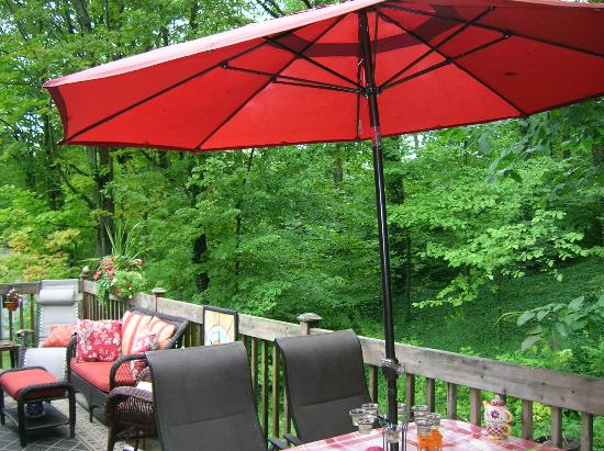 Maple Acres B&B: the patio