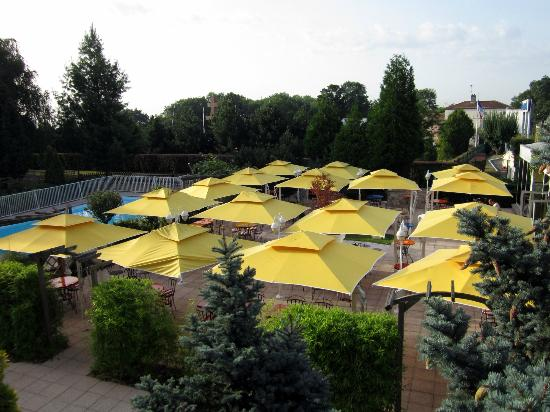 Novotel Nancy: Hotel Patio and Pool