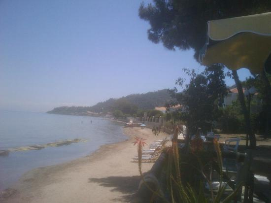 Katerina Palace Hotel: view from a beach bar