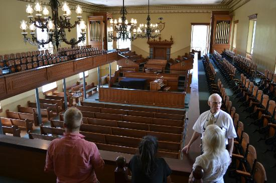 St. George Tabernacle: Inside the tabernacle