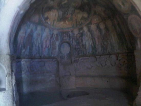 Dedeli Konak Cave Hotel: The interior of a church, 3d century AC, carved in the soft rocks
