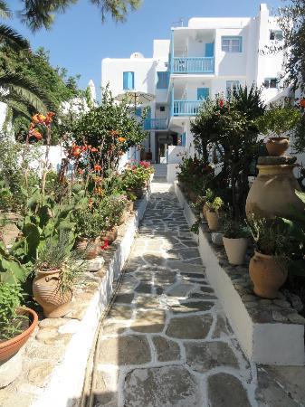 Philippi Hotel: the garden