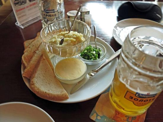 Shato Robert Doms : Caviar and house brewed beer at Shato