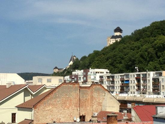 Penzion Exclusive: View of Trencin Castle from Room