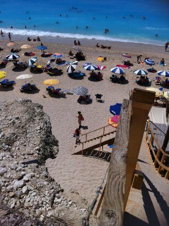 Strand von Egremni: Egremni gli scalini di legno