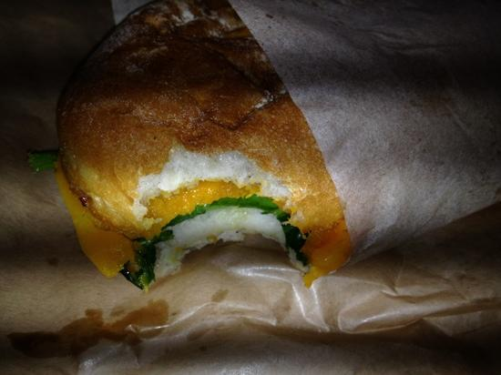 Queen Victoria Market: vegetarian panini for only $3.20!!