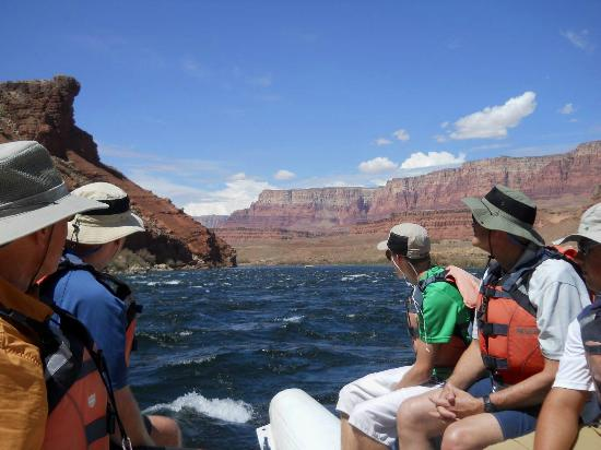 Arizona Raft Adventures: The beginning of our adventure at Mile 1