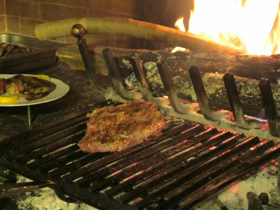 Palaia, Italia: Perfect fire for my steak...