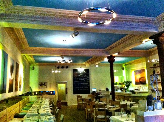 A view from the inside of Marblau