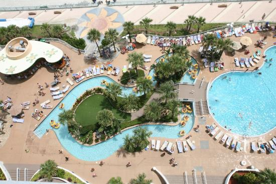 Wyndham Ocean Walk Lazy River And One Of The Two Pools