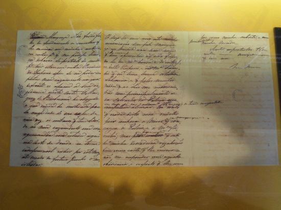 Manor Of The Marquesa Of Santos: Carta de D. Pedro para a Marquesa