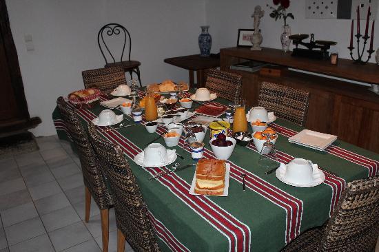 Le Clos Gaxen: Un petit déjeuner copieux
