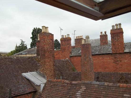 Jessop House: View across the very old chimneys, looked like a scene from Mary Poppins!