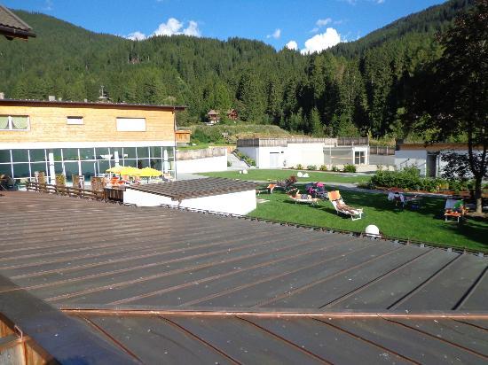 Hotel Stoll: il parco sul retro dell'Hotel direttamente dalla piscina