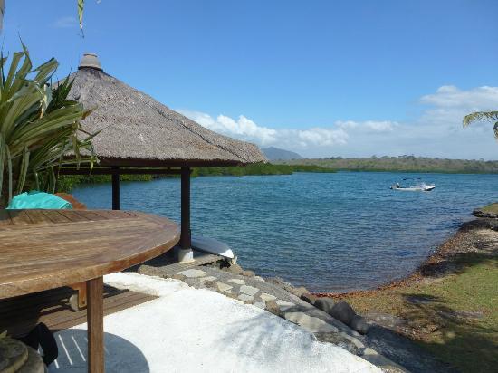 Mimpi Resort Menjangan: view from pool near restaurant