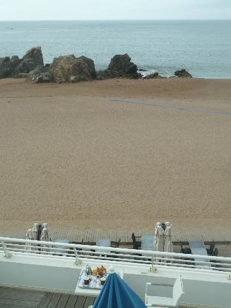 Best Western Hotel De La Plage : Vue sur terrasse et plage