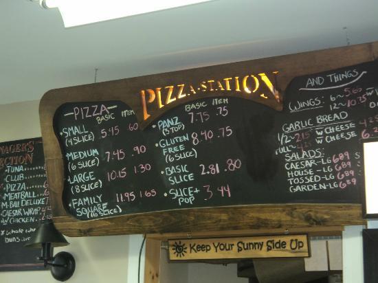 Gravenhurst, كندا: Pizz Menu 