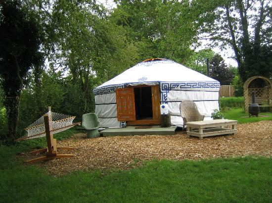 Norfolk Glamping & Yurt Holidays: moonbeam yurt