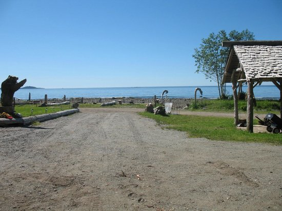 Mussel Beach Campground:                   view