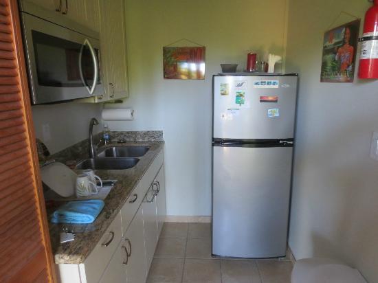 Hale Huanani Bed and Breakfast: Cucina e frigo