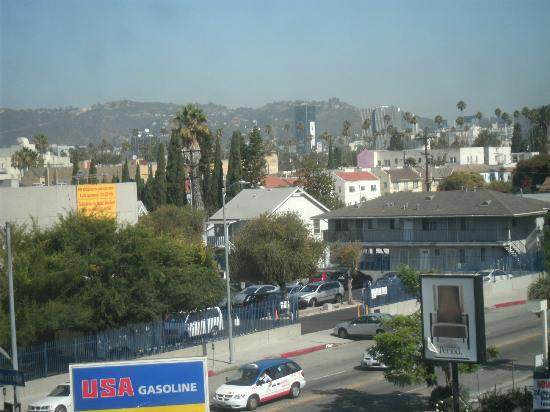Hollywood Historic Hotel: The Hollywood sign was visible from the room I stayed in, 319.