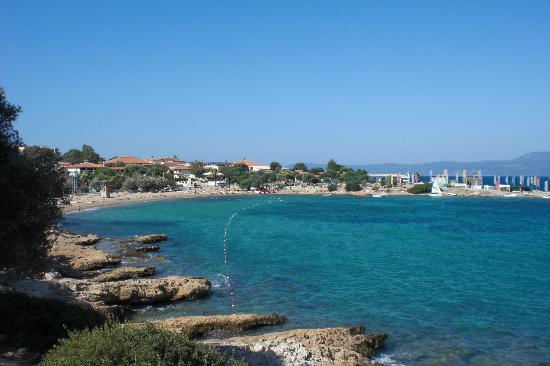 Club Resort Atlantis: Baie et plage publique (l'hôtel est dans le fond)