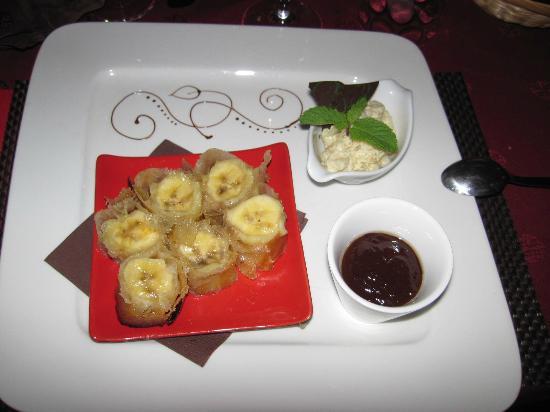 Restaurant Le Siralys : Banane au chocolat