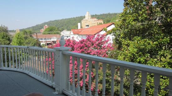 The Spring Street Inn B&B: The view from our private balcony