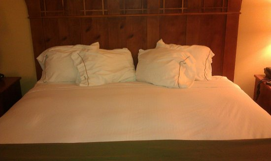 Holiday Inn Express and Suites Springfield - Downtown : Interesting pillow arrangement - thanks housekeeping!