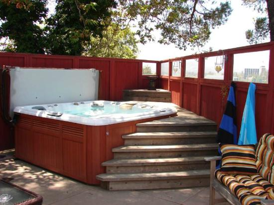 Arroyo del Sol Clothing Optional Bed and Breakfast: Soothing Hot Tub