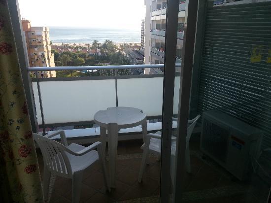 Hotel Tres Anclas: Terraza y vista desde ella