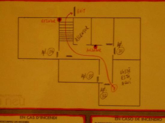 Aparthotel La Neu: Plano de la planta 3