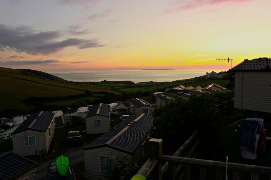 Woolacombe Sands Holiday Park: Sunset from our static