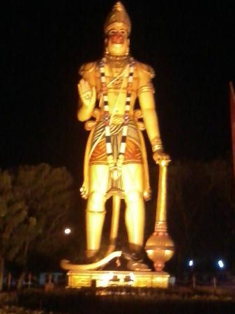Rourkela, India: hanuman Vatika night view