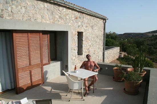 Cases de Son Barbassa : En la terraza de la habitacion - room terrace