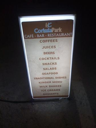 Corissia Beach Hotel: menu